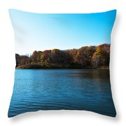 Autumn The In Loess Hills Throw Pillow
