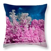 Autumn Trees In Infrared Throw Pillow