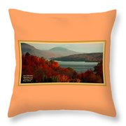 Autumn Trees Near A River H A With Decorative Ornate Printed Frame. Throw Pillow
