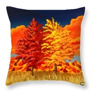 Autumn Twins Throw Pillow
