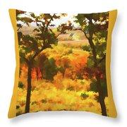 Autumn View, Montelle Winery, Augusta, Missouri Throw Pillow