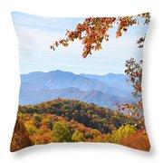 Autumn View Of The Smokies Throw Pillow