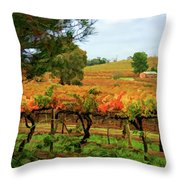 Autumn Vines Throw Pillow