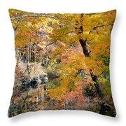 Autumn Vintage Landscape 6 Throw Pillow