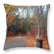 Autumn Walk At West Thompson Lake  Throw Pillow