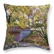 Autumn Walk In The Park Throw Pillow