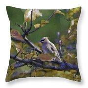 Autumn Waxwing 2 Throw Pillow