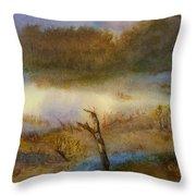 Autumn Wetlands Throw Pillow
