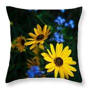 Autumn Wildflowers Throw Pillow