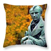 Autumn With Mr. Cooper Throw Pillow