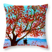 Together In Autumn  Throw Pillow