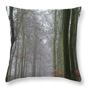 Autumn Woodland Avenue Throw Pillow