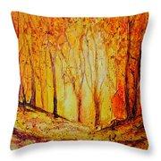 Autumn Woods Throw Pillow