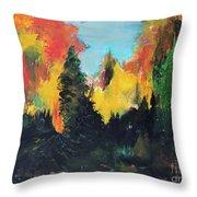Autumnal Colors Throw Pillow