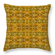 Autumnal In Earth Tones Throw Pillow