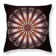 Autumnal Mandala Throw Pillow