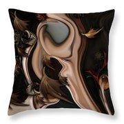 Autumnal Material Throw Pillow