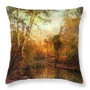 Autumnal Tones Throw Pillow