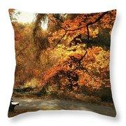 Autumn's Audience Throw Pillow