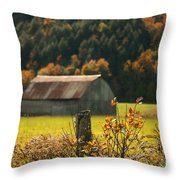 Autumns Colors Throw Pillow by Sandra Cunningham