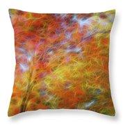 Autumn's Fire Throw Pillow