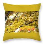 Autumns Gold Throw Pillow