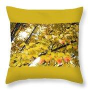 Autumns Gold Throw Pillow