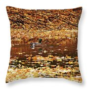 Autumns Mallards Throw Pillow
