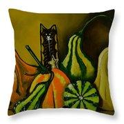Autumn's Motley Crew Throw Pillow