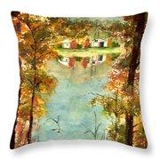 Autumn's Peaceful Abode  Throw Pillow
