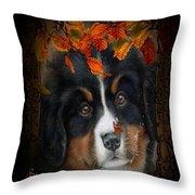 Autumn's Pup Throw Pillow