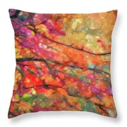 Autumns Splendorous Canvas Throw Pillow