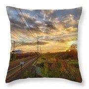 Autumn's Sunset Throw Pillow