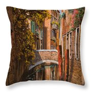 autunno a Venezia Throw Pillow by Guido Borelli