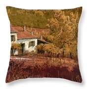 Autunno Rosso Throw Pillow