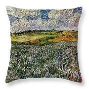 Landscape Auvers28 Throw Pillow