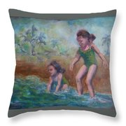 Ava And Friend Throw Pillow