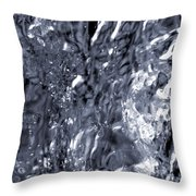 Avalanche Bw Throw Pillow