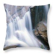 Avalanche Falls Flume Gorge Throw Pillow