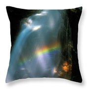 Avalanche Falls Rainbow Flume Gorge Throw Pillow