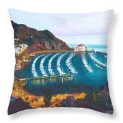 Avalon At Sunrise Throw Pillow by Nicolas Nomicos