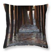 Avalon Pier At 32nd Street Throw Pillow