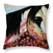 Avalon's Rose Throw Pillow