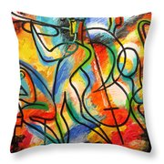 Avant-garde Jazz Throw Pillow