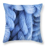 Avatar Blue Rope Throw Pillow