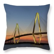 Avenell Bridge Sunset Throw Pillow