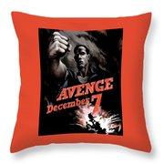Avenge December 7th Throw Pillow