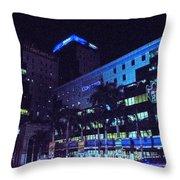 Avenida Roosevelt San Salvador Throw Pillow