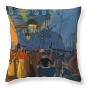 Avenue De Clichy. Five O'clock In The Evening Throw Pillow
