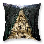 Avenue Des Chats Throw Pillow